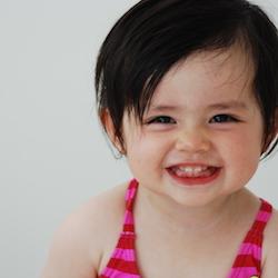 Eedi toddler smiling